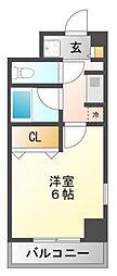 パインコート江坂II[2階]の間取り