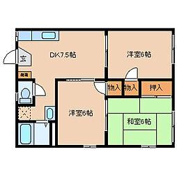 ファインハイツ[1階号室]の間取り