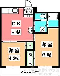 シャルマンコーポ福音寺[3階]の間取り