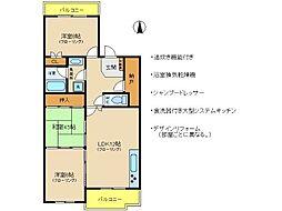 兵庫県神戸市西区枝吉2丁目の賃貸マンションの間取り