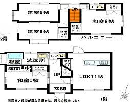 [一戸建] 広島県呉市上長迫町 の賃貸【/】の間取り