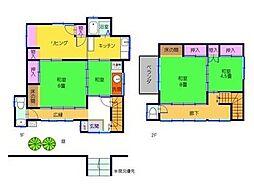 [一戸建] 神奈川県横須賀市西逸見町1丁目 の賃貸【/】の間取り