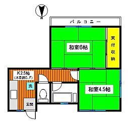 神奈川県横浜市鶴見区下末吉4丁目の賃貸マンションの間取り