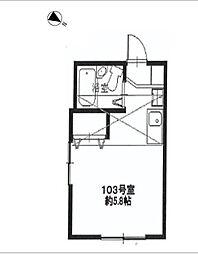 神奈川県横浜市南区中村町3丁目の賃貸アパートの間取り