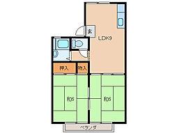 ニューハイツニシオカ[2階]の間取り