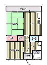 横山ビル[402号室]の間取り