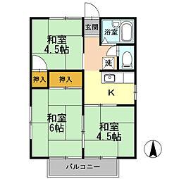 愛知県名古屋市中村区川前町の賃貸アパートの間取り