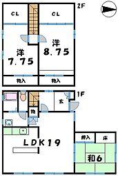 [一戸建] 滋賀県東近江市蒲生堂町 の賃貸【/】の間取り