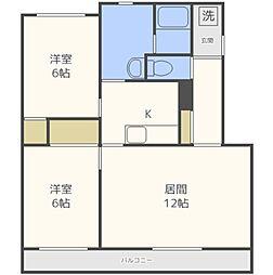 ディアコートII[2階]の間取り