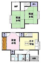 [一戸建] 鳥取県米子市三本松1丁目 の賃貸【/】の間取り