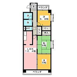 エクセレントハイムA[3階]の間取り