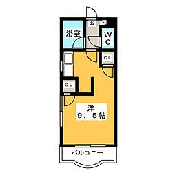 レオポリス原田[4階]の間取り