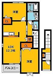 ラッフィナートアロッジオC[2階]の間取り