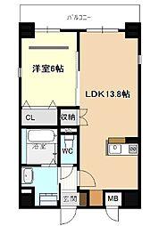 仮称)四軒家マンション[3階]の間取り