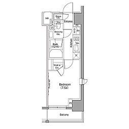 JR山手線 巣鴨駅 徒歩8分の賃貸マンション 6階1Kの間取り