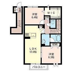 ファレスクレイン[2階]の間取り