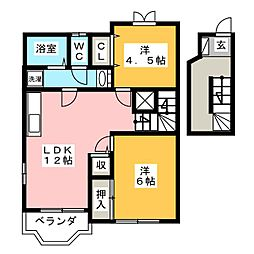 Only OneII[2階]の間取り