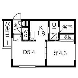 NatuRise(ナチュライズ) 1階1DKの間取り