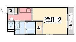 パークサイド姫路[201号室]の間取り