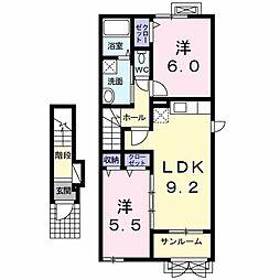 トライブC[2階]の間取り