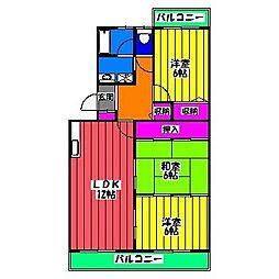 福岡県福岡市博多区竹下5丁目の賃貸マンションの間取り