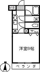 埼玉県さいたま市大宮区桜木町4の賃貸アパートの間取り