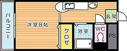 メイゾン足原[405号室]の間取り