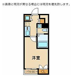 スカイコート東京ベイ・東雲 3階1Kの間取り