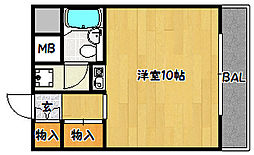 兵庫県神戸市兵庫区中道通3丁目の賃貸マンションの間取り