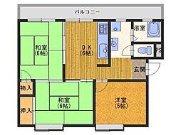 大阪府和泉市幸1丁目の賃貸マンションの間取り