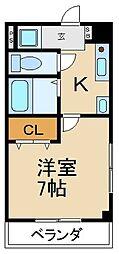 M`PLAZA参番館[10階]の間取り