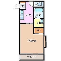 松本台イースト[1階]の間取り