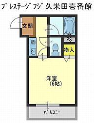 プレステージフジ久米田壱番館[2階]の間取り