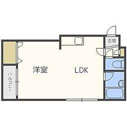 レジデンス白石D[4階]の間取り