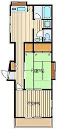 小榑ハイツ[1階]の間取り