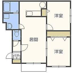レガート41[1階]の間取り