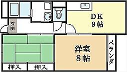 木幡グリーンハイツ[2階]の間取り