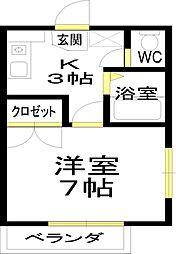 和泉中央駅徒歩圏[205号室]の間取り