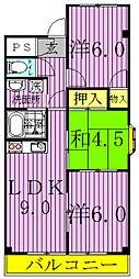 YHマンション[502号室]の間取り