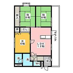 フローラル花水木[2階]の間取り