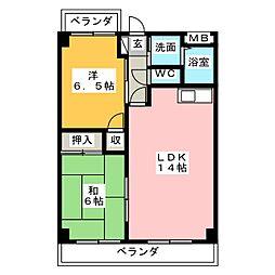 エントピアヤダ[4階]の間取り
