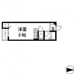 ピア小阪[403号室号室]の間取り