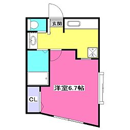 東京都東大和市南街4丁目の賃貸アパートの間取り