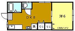 くるみハイツ[2階]の間取り