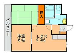 パールハウス[4階]の間取り