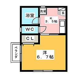 パールメゾン清洲A棟[2階]の間取り