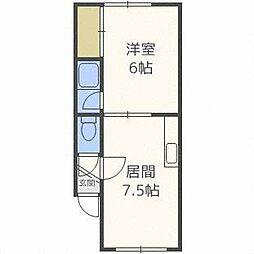 コーポ25-2[1階]の間取り