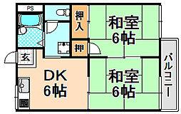 兵庫県伊丹市寺本東1丁目の賃貸アパートの間取り