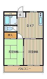 ヒルズ藤原[1階]の間取り