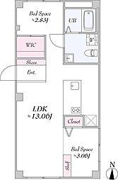 JR山手線 池袋駅 徒歩19分の賃貸マンション 4階2LDKの間取り